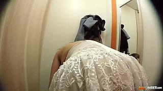 massive assed latina milf halona moreno handles monster cock in fitting room