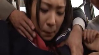 Asian schoolgirl fondled in the bus