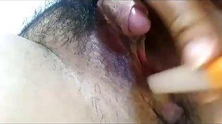 Japanese huge clit masturbating
