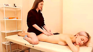 Two Horny Sisters Sexy Nude Massage