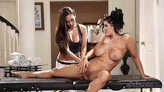 busty milfs love to rub and play with each other