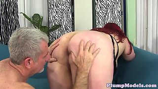 redhead fatty doggystyled by hard dick