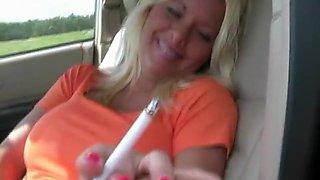 Crazy homemade Smoking, Blonde porn video