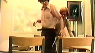 Redhead cute milf blows dick of a nerdy man in glasses