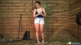 Juggy full natural chick Lara is eager for your meaty and hard penis