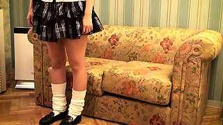 Blindfolded Japanese schoolgirl feeds her lust for hard meat