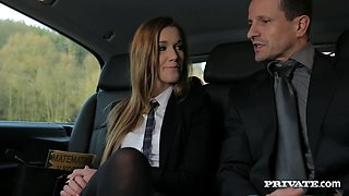 Marvelous Cowgirl In Miniskirt Loves Car Fucking On Cumshot